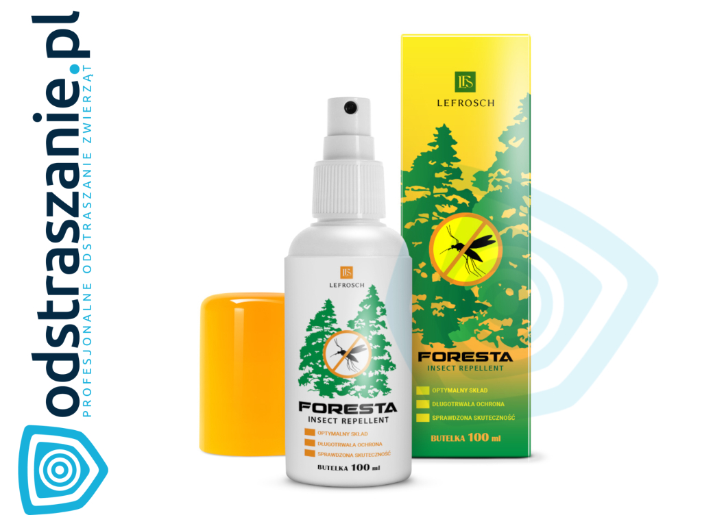 Foresta Spray DEET 30%. Repelent na komary tropikalne.