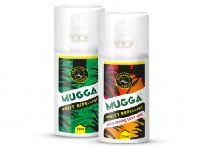 Mugga Strong Spray 50% DEET + Mugga Classic Spray 9,5% DEET.